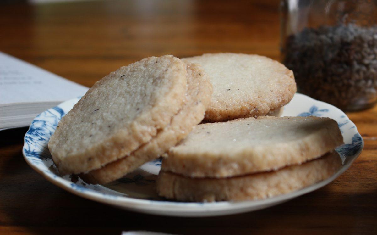 Dairy Free Lavender Shortbread Cookies