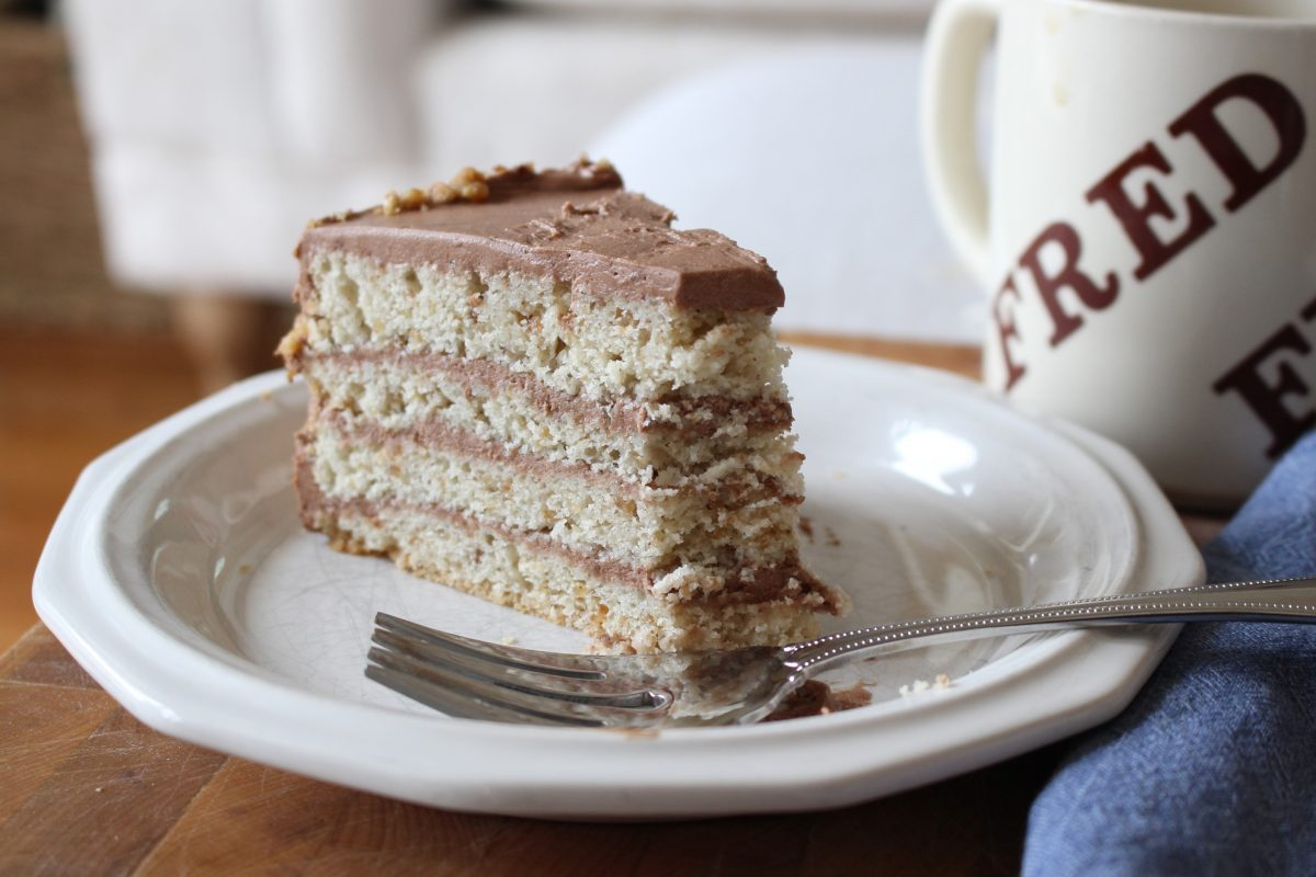 Hazelnut Cake with Chocolate Mocha Frosting