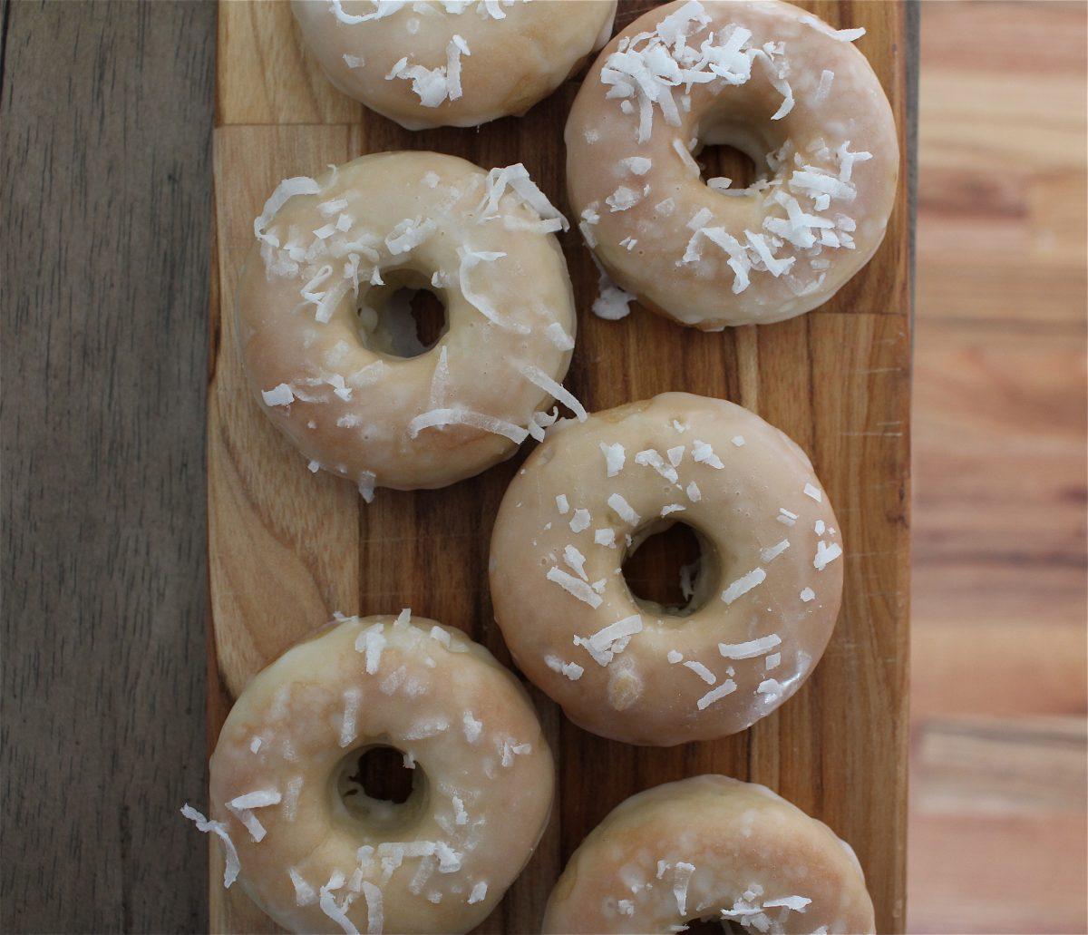 Lemon Coconut Vegan Doughnuts