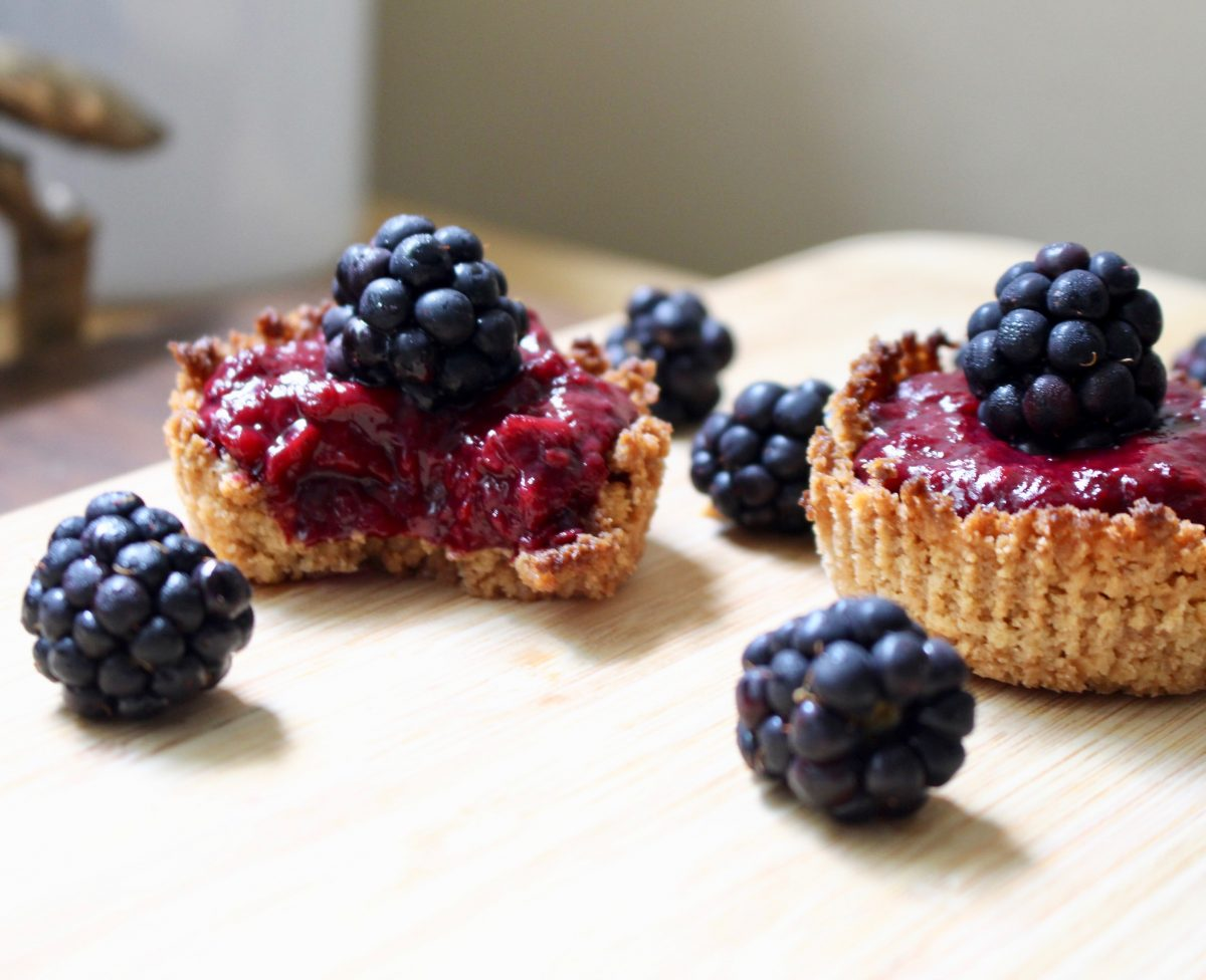 Almond Butter and Blackberry Jelly Tarts
